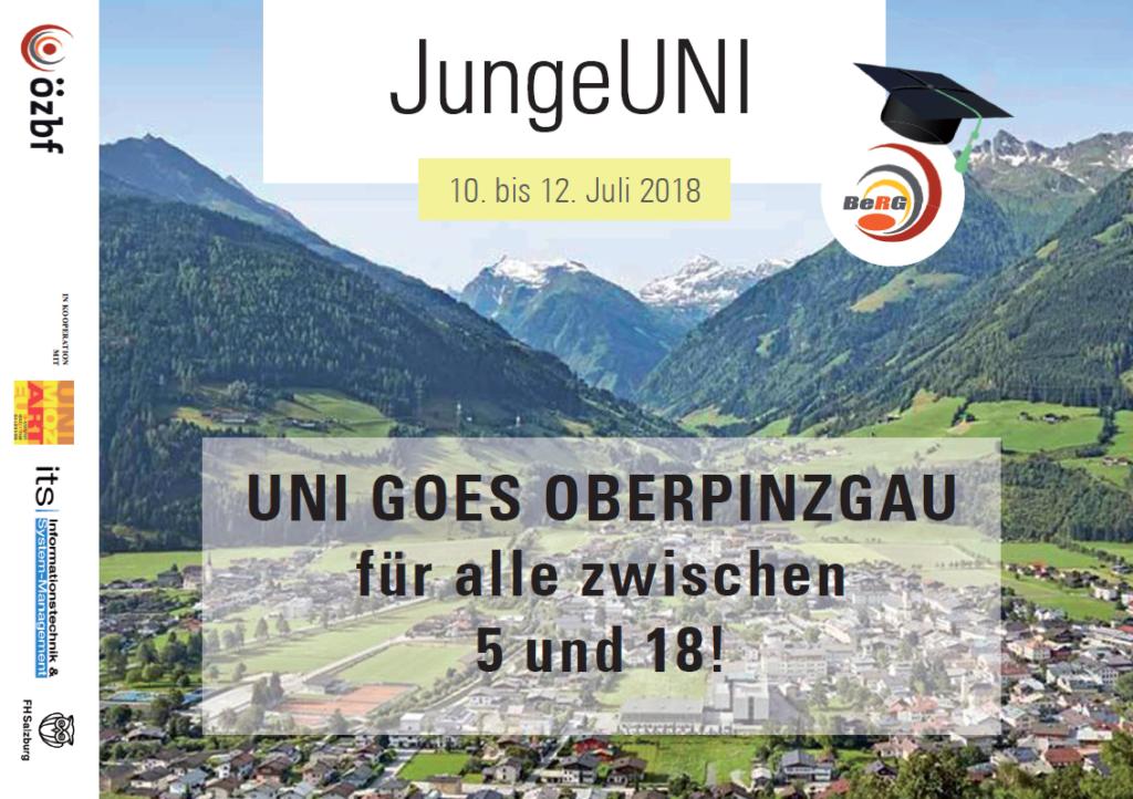 Flyer Ausschreibung JungeUNI Oberpinzgau