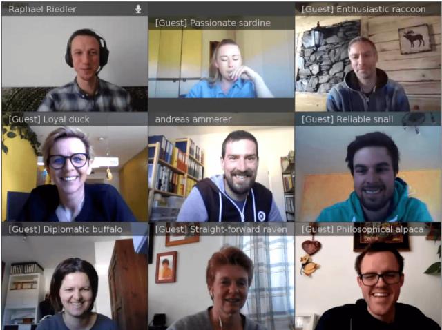 Distance Learning und Austausch über Videokonferenz