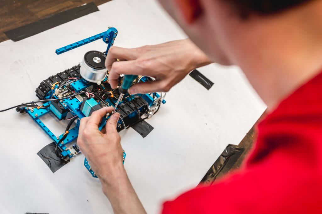 Roboter bauen bei IT Woche